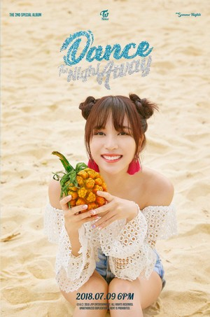 Mina's teaser image for 'Dance the Night Away'