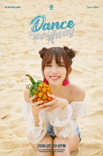 Twice (JYP Ent) wolpeyper called Mina's teaser image for 'Dance the Night Away'