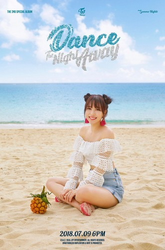 Twice (JYP Ent) वॉलपेपर entitled Mina's teaser image for 'Dance the Night Away'