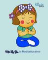 Miss La Sen in meditation 2