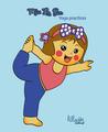 Miss La Sen practices yoga