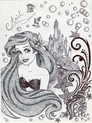Monochrome Princess Ariel