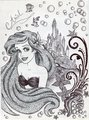 Monochrome Princess Ariel - disney-princess fan art