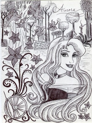 Monochrome Princess Aurora