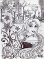Monochrome Princess Aurora - disney-princess fan art