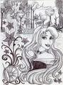 Monochrome Princess Aurora - disney-princess fan art
