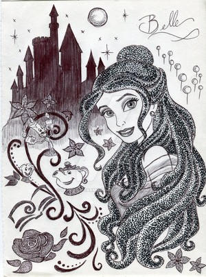 Monochrome Princess Belle