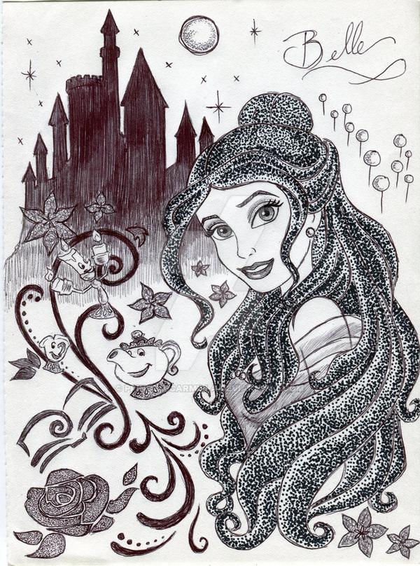 Monochrome Princess Belle