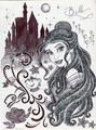 Monochrome Princess Belle - disney-princess fan art