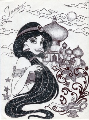 Monochrome Princess चमेली