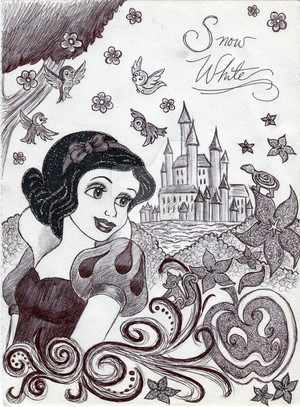 Monochrome Princess Snow White