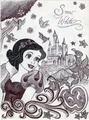 Monochrome Princess Snow White - disney-princess fan art