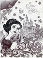 Monochrome Princess Snow White - disney-princess fan art