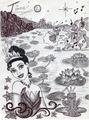 Monochrome Princess Tiana - disney-princess fan art