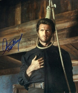 Movie still from The Good, the Bad, and the Ugly with autograph