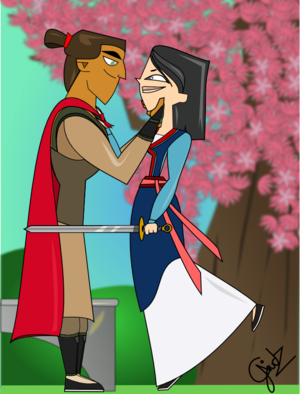 Mulan and Li Shang