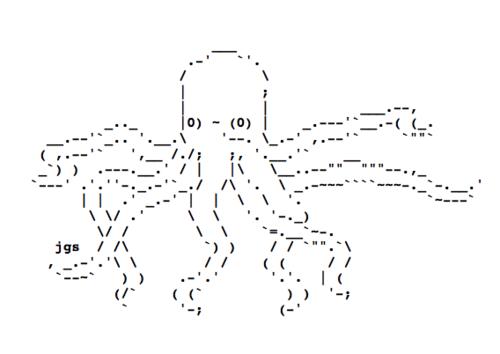 Octopus Text Art ascii art 36015433 500 354