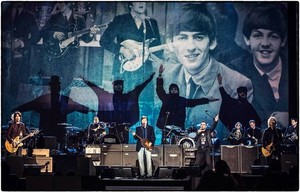 Paul and Ringo pay tribute to John and George