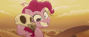 Pillbug crawling across Pinkie Pie s face MLPTM