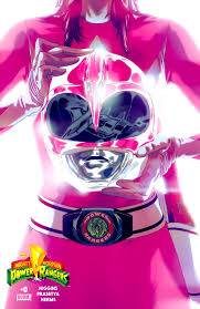 Mighty Morphin Power Rangers karatasi la kupamba ukuta titled pink ranger power
