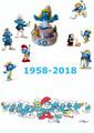 Poster 60esimo anniversario dei puffi