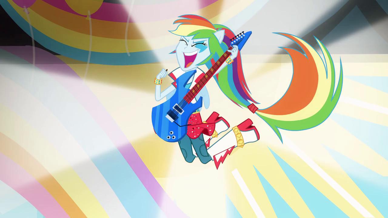 Rainbow Dash In Band Attire Eg2 Rainbow Dash Equestria