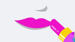 Rarity putting on lipstick EG