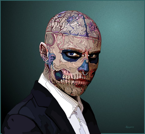 Rick Genest -zombi boy(August 7, 1985 – August 1, 2018)