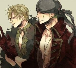 Roronoa Zoro and Sanji