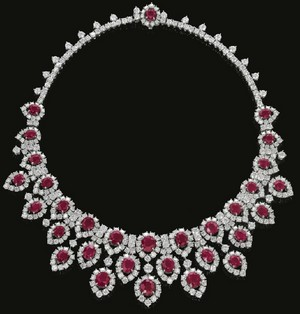 Ruby And Diamond collar
