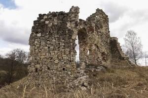 Ruins of Aizkraukle castle, Latvia