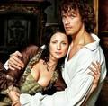 Sam Heughan and Caitriona Balfe - outlander-2014-tv-series photo