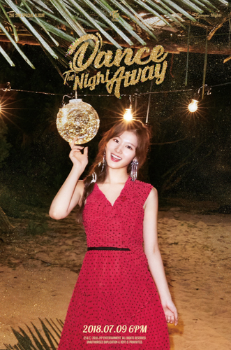 Twice (JYP Ent) wolpeyper titled Sana's teaser image for 'Dance the Night Away'