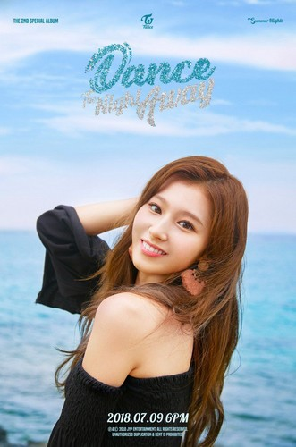 Twice (JYP Ent) वॉलपेपर titled Sana's teaser image for 'Dance the Night Away'
