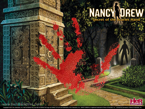 Nancy Drew games 바탕화면 titled Secret of the Scarlet Hand