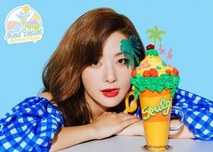 Seulgi's teaser image for 'Power Up' (Blue Ver.)