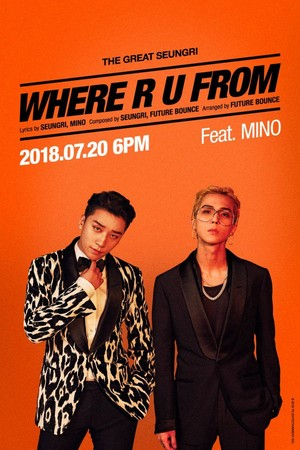 """Seungri and Song Minho for """"WHERE R U FROM"""" poster"""