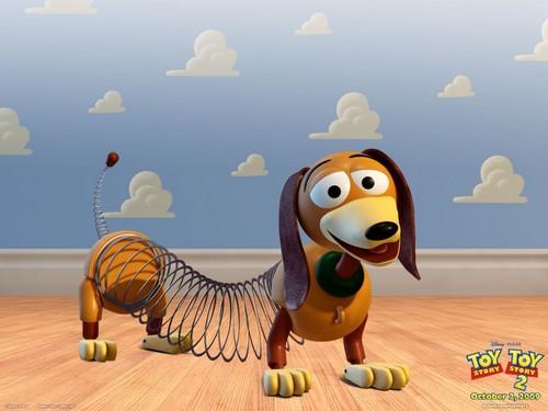 Toy Story 2 壁纸 entitled Slinky