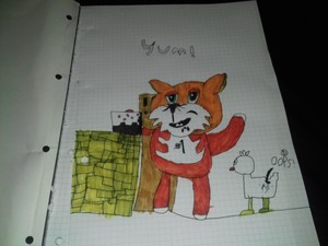Stampylonghead with a Cake.