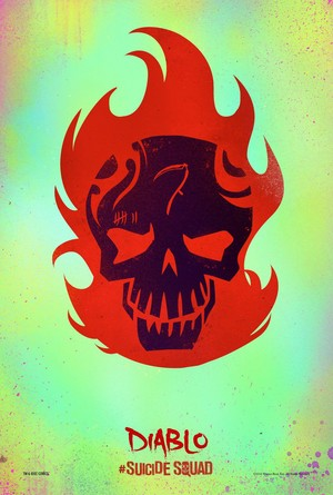 Suicide Squad (2016) Skull Poster - El Diablo