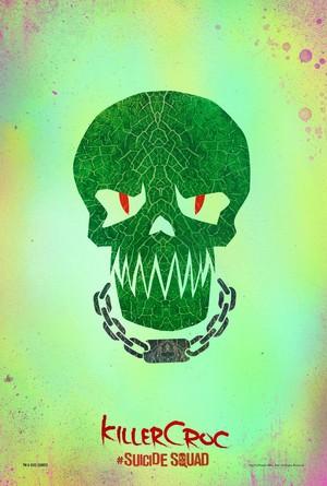 Suicide Squad (2016) Skull Poster - Killer Croc