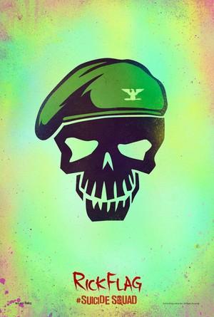 Suicide Squad (2016) Skull Poster - Rick Flag
