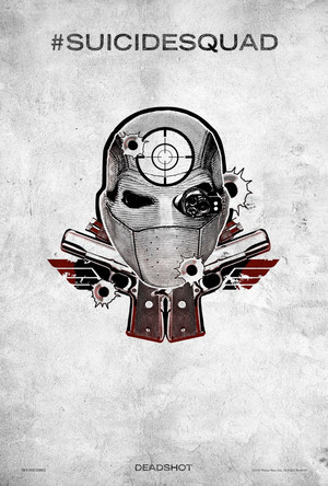 Suicide Squad (2016) Tattoo Poster - Deadshot