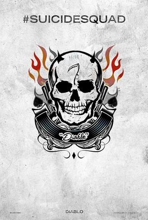 Suicide Squad (2016) Tattoo Poster - El Diablo