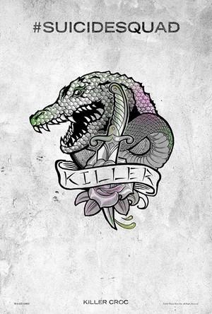 Suicide Squad (2016) Tattoo Poster - Killer Croc