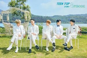 TEEN parte superior, arriba suit up in white in '8PISODE' repackage album teaser image!