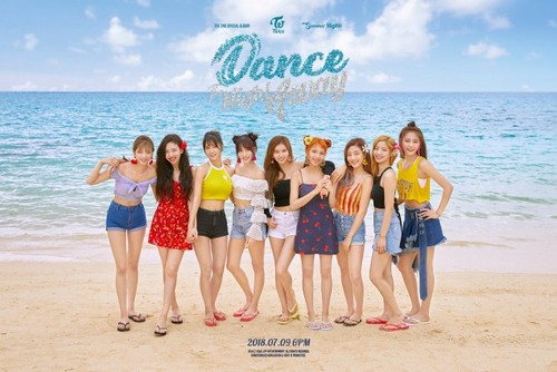 Twice (JYP Ent) 壁紙 titled TWICE group teaser image for 'Dance the Night Away'
