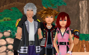 The Destiny Trios in KH3  Sora  Riku and Kairi  MMD.  .