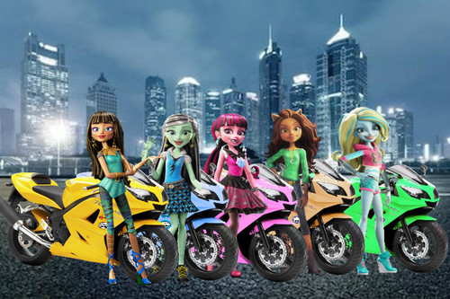 Monster High achtergrond titled The Ghoul Squad