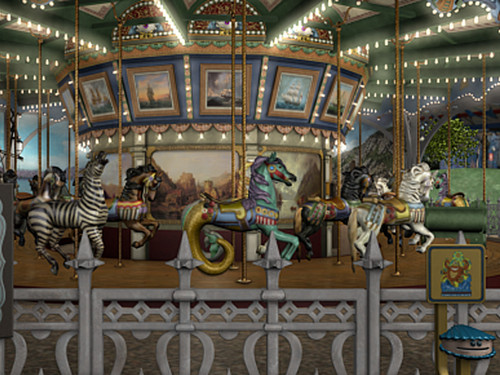 Nancy Drew games 바탕화면 titled The Haunted Carousel
